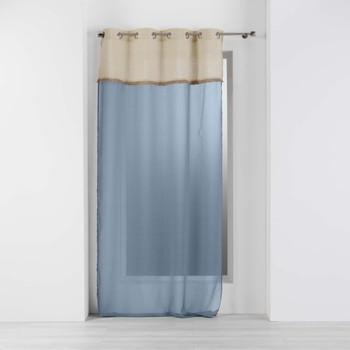 Home Sheer curtains Douceur d intérieur GREENYBEL Blue