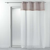 Home Sheer curtains Douceur d intérieur KELONIA Grey