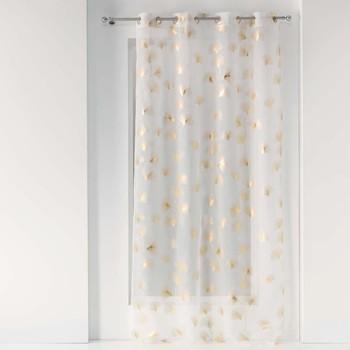 Home Sheer curtains Douceur d intérieur GINKGOLD Sable