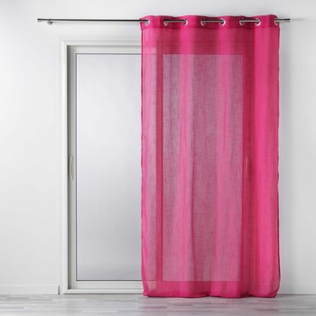 Home Sheer curtains Douceur d intérieur ZAZY Fuschia