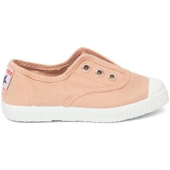 Shoes Children Tennis shoes Cienta Chaussures en toiles bébé  Tintado rose clair