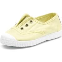 Shoes Children Tennis shoes Cienta Chaussures en toiles bébé  Tintado jaune pastel