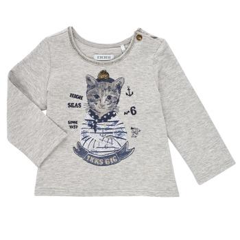 Clothing Girl Long sleeved tee-shirts Ikks PERSAN Grey