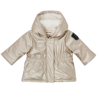 Clothing Girl Parkas Ikks BRIQUE Silver