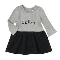 Clothing Girl Short Dresses Ikks CARAMEL Multicolour