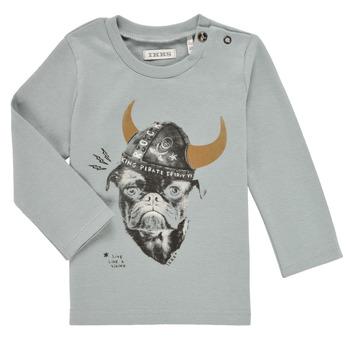 Clothing Boy Long sleeved tee-shirts Ikks CHAUDRON Blue