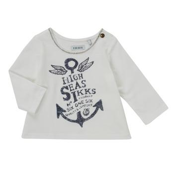 Clothing Girl Long sleeved tee-shirts Ikks CHOCOLAT White