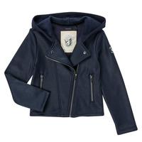 Clothing Girl Jackets / Cardigans Ikks INCARNAT Marine