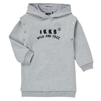 Clothing Girl Short Dresses Ikks NOISETTE Grey