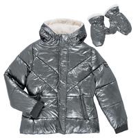 Clothing Girl Duffel coats Ikks OLIVE Silver