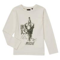 Clothing Boy Long sleeved tee-shirts Ikks CERISE White