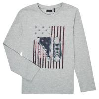Clothing Boy Long sleeved tee-shirts Ikks SAPHIR Grey