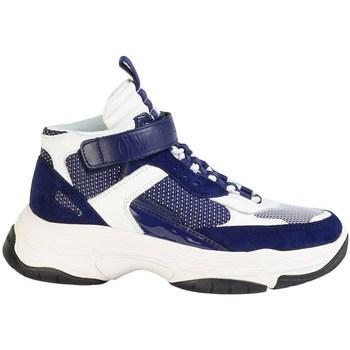 Shoes Men Mid boots Calvin Klein Jeans Mordikai White, Navy blue