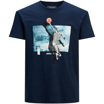 Clothing Men Short-sleeved t-shirts Jack & Jones T-shirt  Jcolegend bleu marine