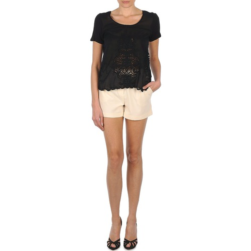 Clothing Women Shorts / Bermudas Stella Forest PLEAT Ecru