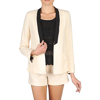Clothing Women Jackets / Blazers Stella Forest PLEAT Ecru