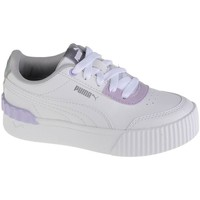 Shoes Children Low top trainers Puma Carina Lift Shine PS White