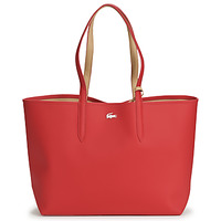 Bags Women Shopping Bags / Baskets Lacoste ANNA Red / Beige