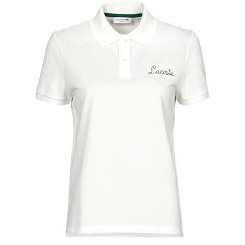 Clothing Women Short-sleeved polo shirts Lacoste PF7251 White