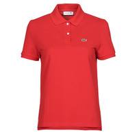 Clothing Women Short-sleeved polo shirts Lacoste POLO REGULAR FIT PF7839 Red