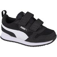 Shoes Children Low top trainers Puma R78 V Infants Black