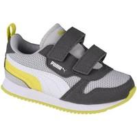 Shoes Children Low top trainers Puma R78 V Infants Grey