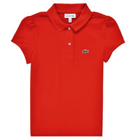 Clothing Girl Short-sleeved polo shirts Lacoste CLEMENCE Red