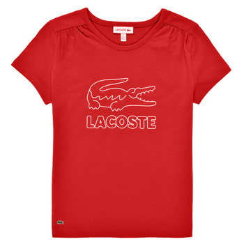 Clothing Girl Short-sleeved t-shirts Lacoste JEANNE Red