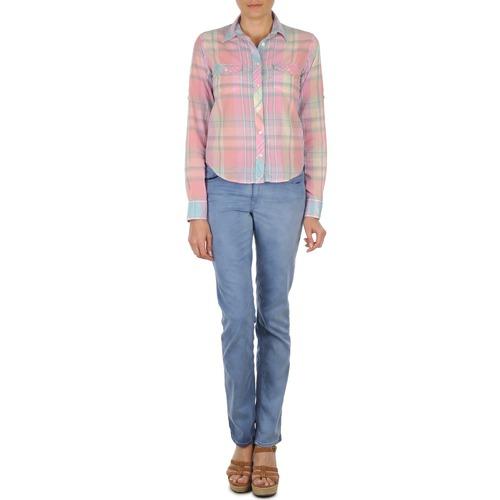 Clothing Women straight jeans Gant DANA SPRAY COLORED DENIM PANTS Blue