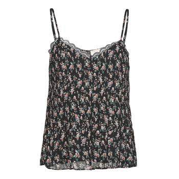 Clothing Women Tops / Blouses Moony Mood ABERES Black / Multicolour