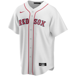Clothing Men Short-sleeved t-shirts Nike Maillot Official Replica Boston Red Sox blanc/rouge
