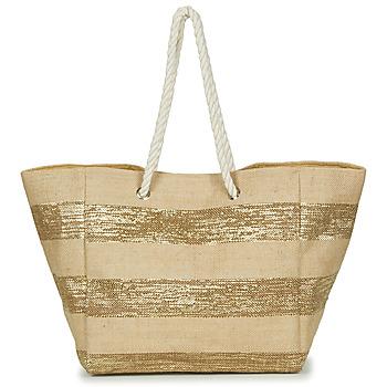 Bags Women Shopping Bags / Baskets Betty London  Beige / Gold