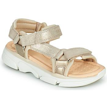 Shoes Girl Sandals Geox J SANDAL LUNARE GIRL Beige