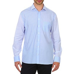 Clothing Men Long-sleeved shirts Gant DASHERS POPLIN SPREAD Blue