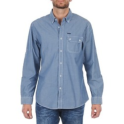 Clothing Men long-sleeved shirts Lee Cooper Greyven Blue