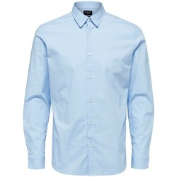 Clothing Men Long-sleeved shirts Selected Chemise  Michigan manches longues slim light blue