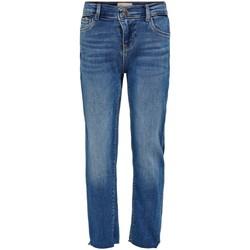 Clothing Girl Straight jeans Only Kids Jeans fille  Emily raw medium blue denim