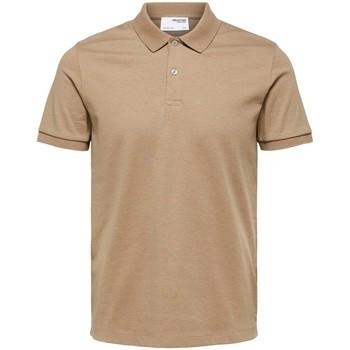 Clothing Men Short-sleeved polo shirts Selected Polo manches courtes  Paris kelp melange