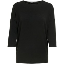 Clothing Women Long sleeved tee-shirts Only T-shirt femme  Glamour manches 3/4 black