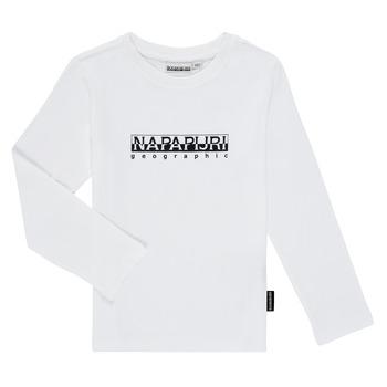 Clothing Boy Long sleeved tee-shirts Napapijri S-BOX LS White