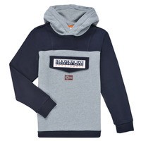 Clothing Boy Sweaters Napapijri BURGEE Grey / Black