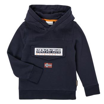 Clothing Boy Sweaters Napapijri BURGEE Marine