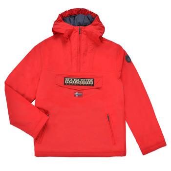 Clothing Children Parkas Napapijri RAINFOREST POCKET Red