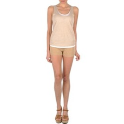 Clothing Women Shorts / Bermudas Majestic SOLENE Beige