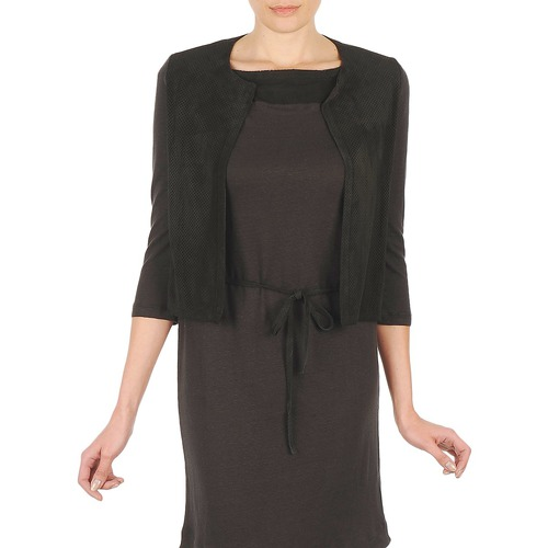 Clothing Women Jackets / Cardigans Majestic BERENICE Black