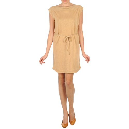 Majestic CAMELIA Beige - Free delivery  ! - Clothing Short Dresses Women   79.80
