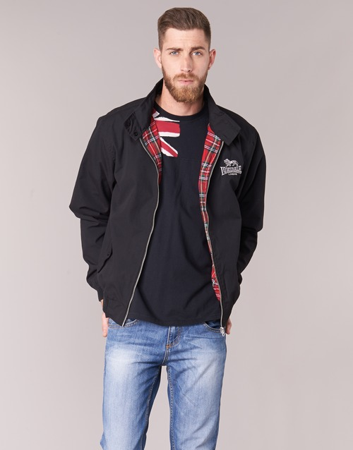 Clothing Men Jackets Lonsdale HARRINGTON Black