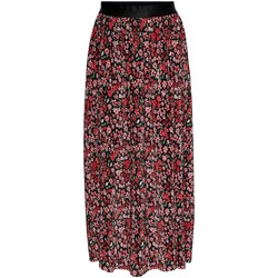 Clothing Women Skirts Only Jupe femme  onllena linings black shore flowers red