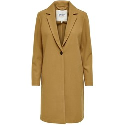 Clothing Women Coats Only Manteau femme  onltrillion toasted coconut solid
