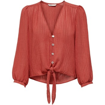 Clothing Women Tops / Blouses Only T-shirt femme  onlemma mineral red
